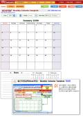 월간자동달력(Note포함) - Monthly Calendar Template
