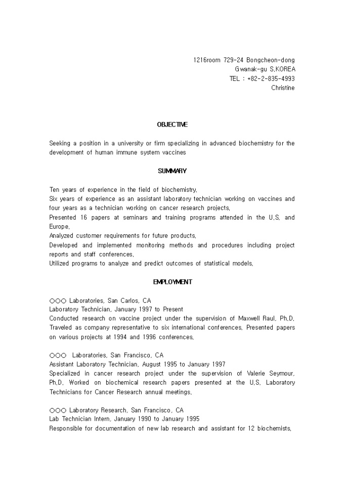 biochemistry resume objective 28 images phd