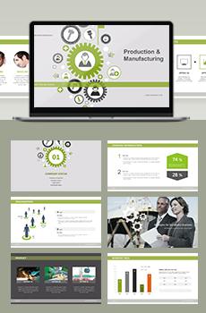 브로슈어형 제조,생산4 PPT 패키지(회사소개서, 보고서, 제안서, 기획서, 심플)
