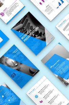브로슈어형 제조, 생산3 PPT 패키지(회사소개서, 보고서, 제안서, 기획서, 심플)