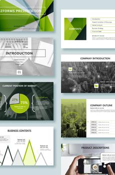 인포그래픽형 사업계획서4 PPT 패키지(창업, 유통, 카페, 프랜차이즈, 여행사, 쇼핑몰, 교육 사업계획서)