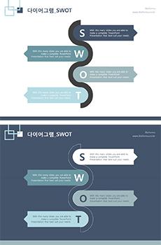 SWOT(물결_4종)